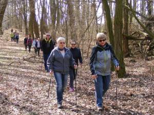 Wiosenny rajd nordic walking Marsz po zdrowie w Chalinie 2016 1