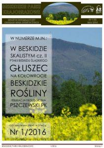 Biuletyn Informacyjny Beskidzkie Parki Krajobrazowe 1 2016 okładka