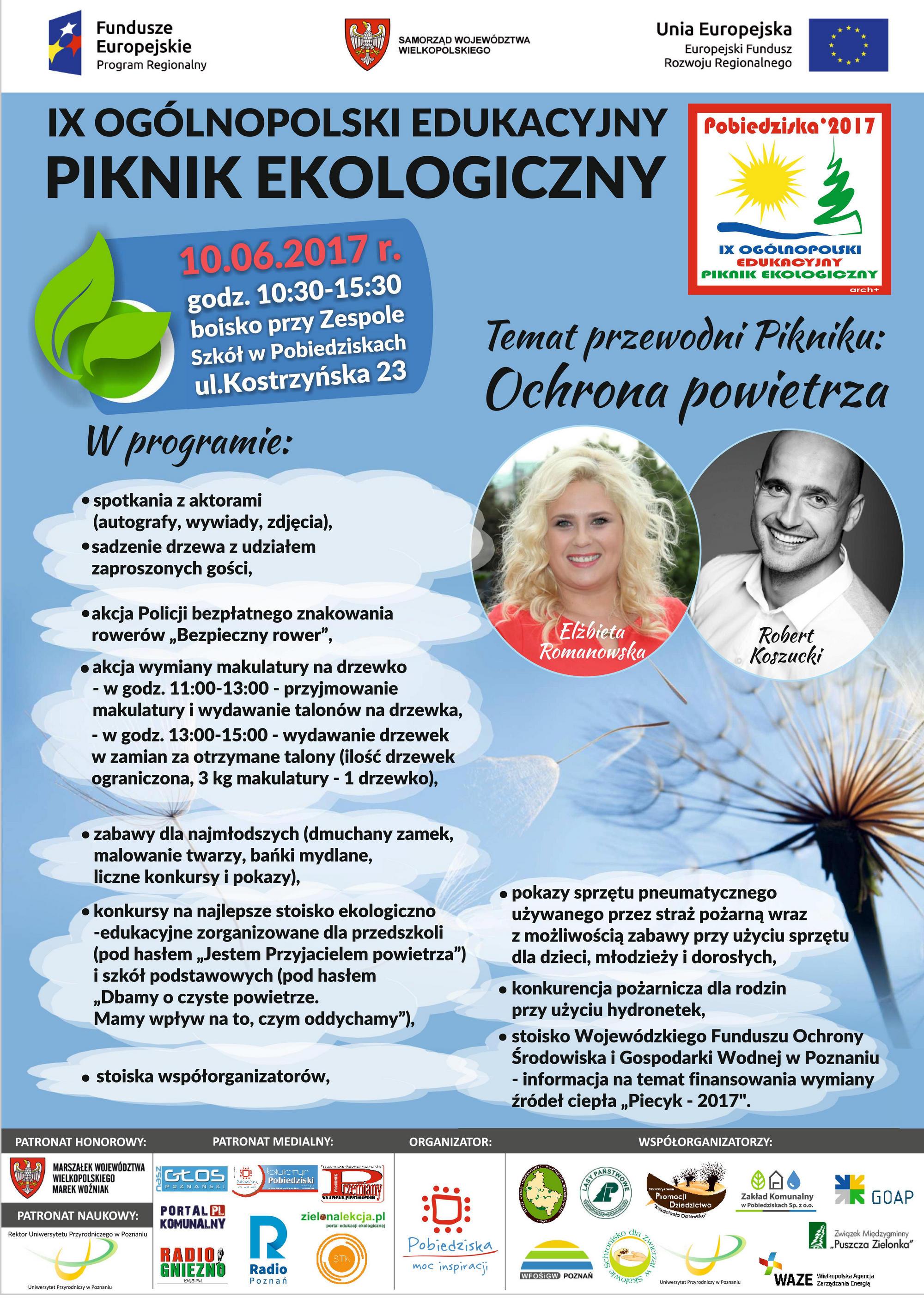 IX Ogólnopolski Edukacyjny Piknik Ekologiczny w Pobiedziskach 2017 plakat